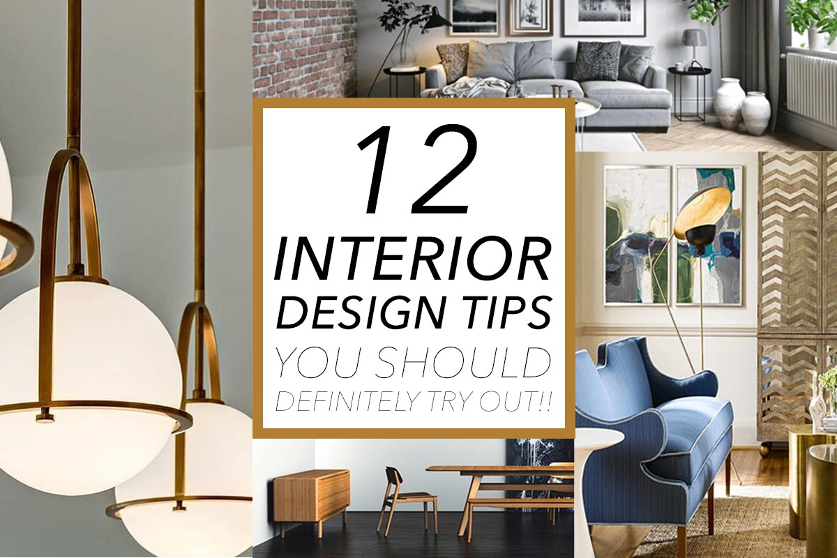 12 interior design tips