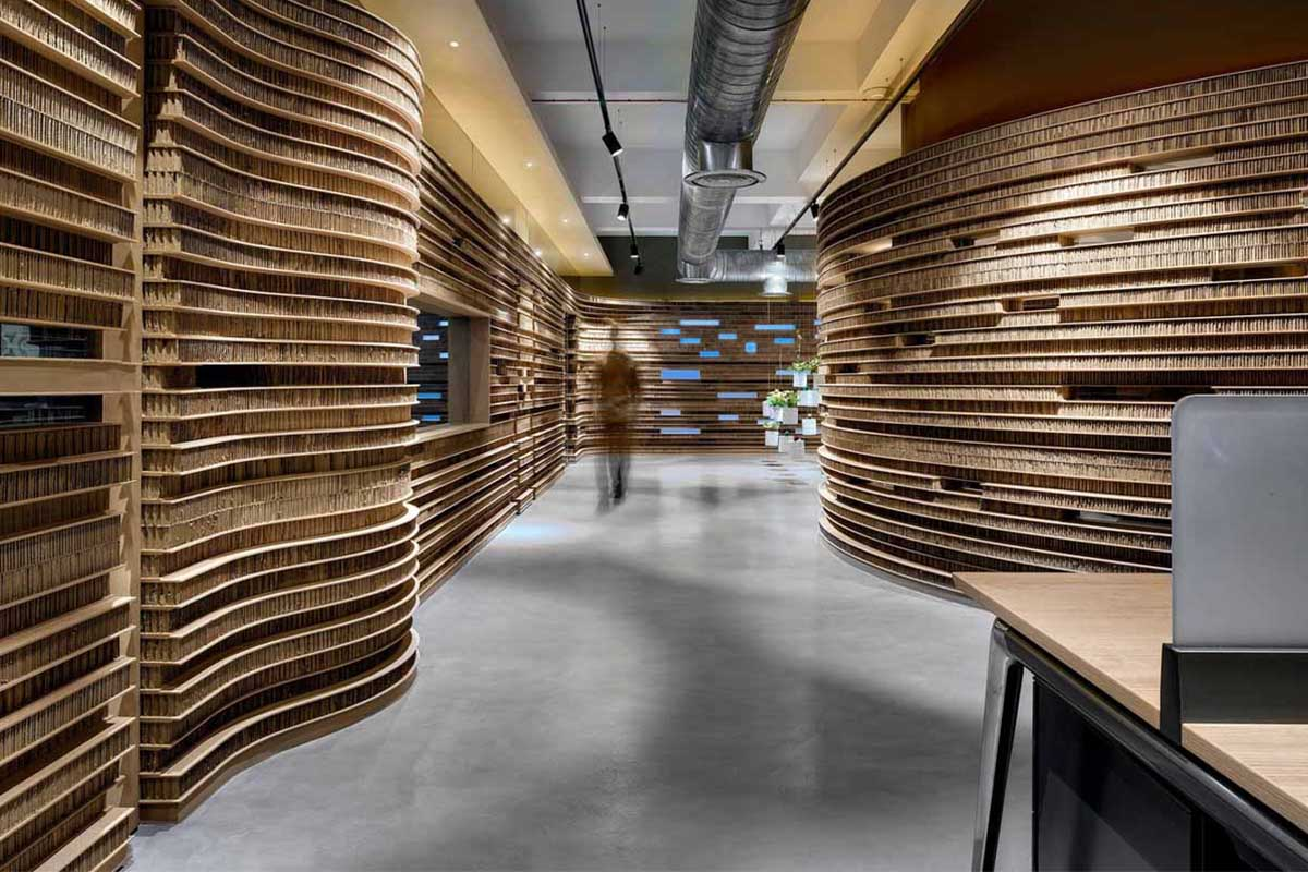 The Cardboard Office / Studio VDGA